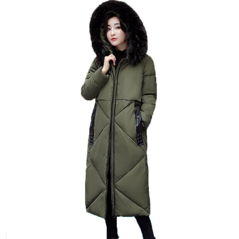 Women Winter Coat Jacket Warm Woman Parkas Big Fur Collar Female Overcoat High Quality Thick Cotton Coat  2017 New Winter Parka women winter coat jacket warm woman parkas big fur collar female overcoat high quality thick cotton coat 2017 new winter parka
