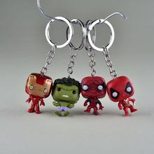 Cute Super Hero Anime Key Cover Cap Spiderman  Hulk Keychain Ring Women Porte Clef Iron Man Key Chain New exotic Marvel keychai цена в Москве и Питере