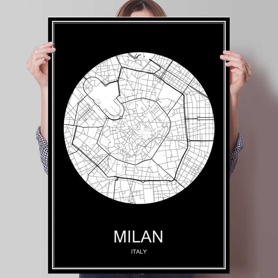 Italy Map Poster PromotionShop for Promotional Italy Map Poster