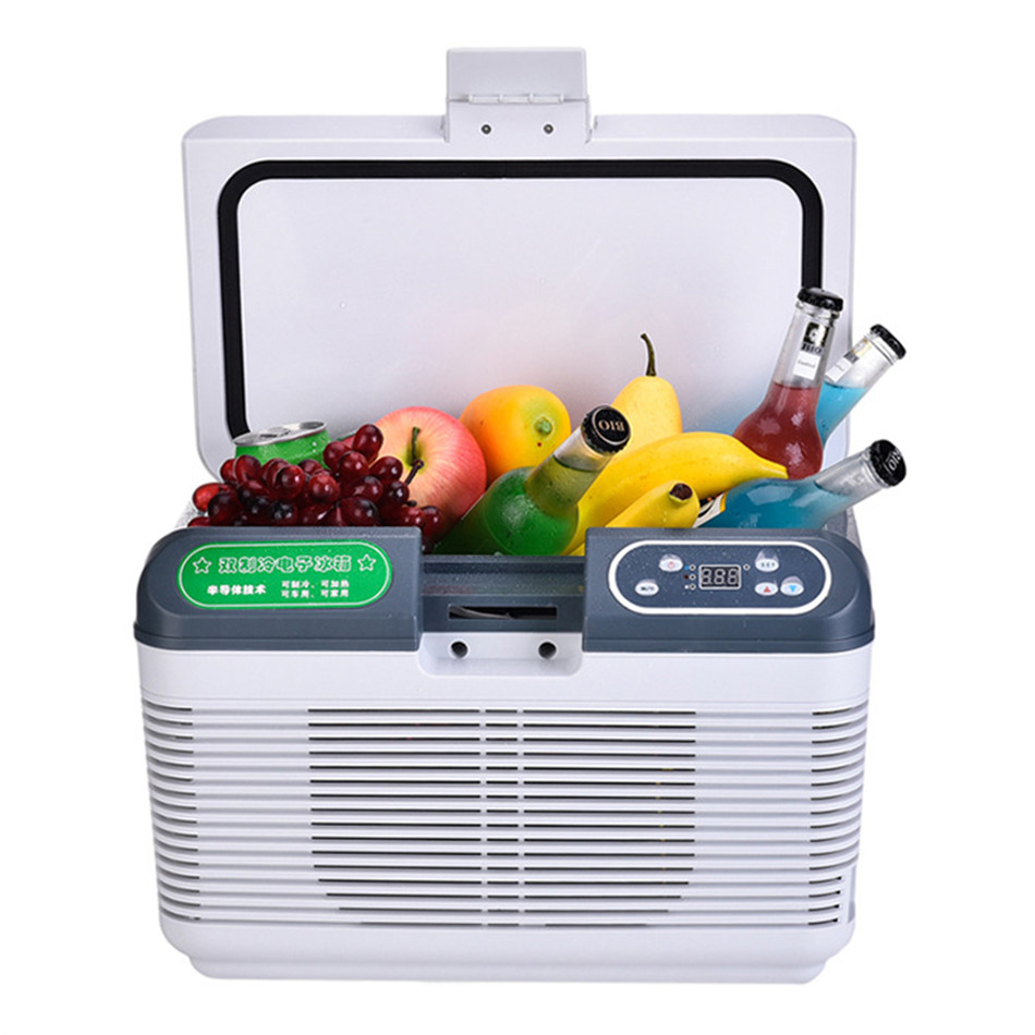 12L DC 12V/24V Portable Car Refrigerator Compressor Mini Auto Fridge Truck Home Freezer Travel Dual-core Cooler Box(China)