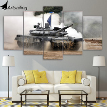 Framed Printed Military tanks 5ps picture painting wall art childrens room decor poster canvas Free shipping/up-1120