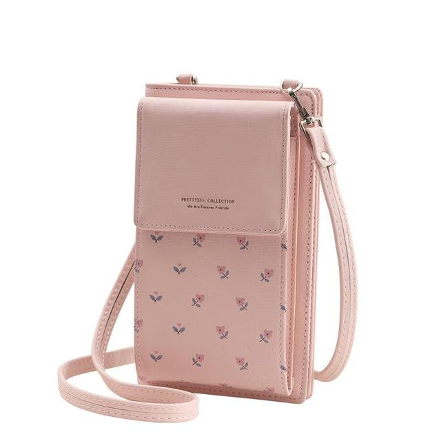 Cute Multifunction Floral Patterned Leather Women's Wallet