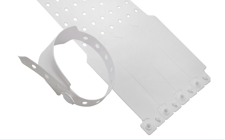 White Plastic Wristbands - 100 Count More Sturdy Wristbands For Parties Events Identity Tag 25mm x 250mm