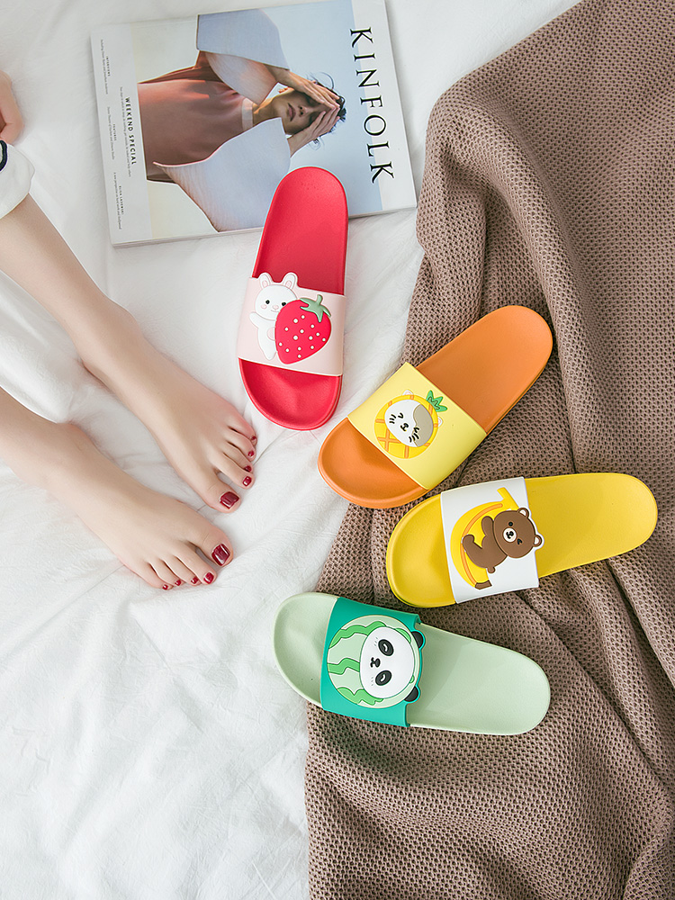 Cartoon Bear Rabbit Slides Women Summer Slippers Fruits Strawberry Banana Panda Home Slippers Sandals Women Shoes Flip Flops 3