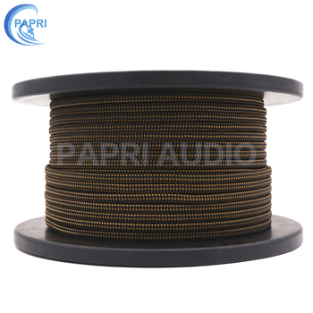 PAPRI HIFI MPS X-9 MPS X-9 99.9999%  OCC 6N Silver Plated DIY Amplifier Wire Audio Cable Wires RCA Speaker Line 1M hifi audio one pair 8ag occ silver plated audio hifi speaker cable speaker wires 2 to 2 with y spade connector