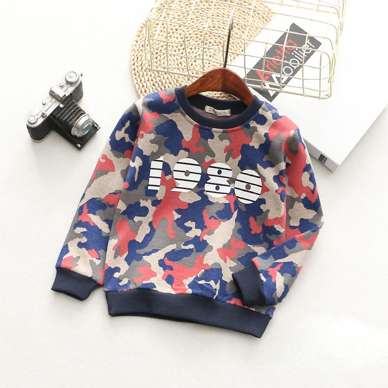 T-Shirts For Boys Girls Camouflage Cotton Kids Top Long Sleeve Toddler Pullover Clothes Digital Print T-Shirt Children Clothing (4)