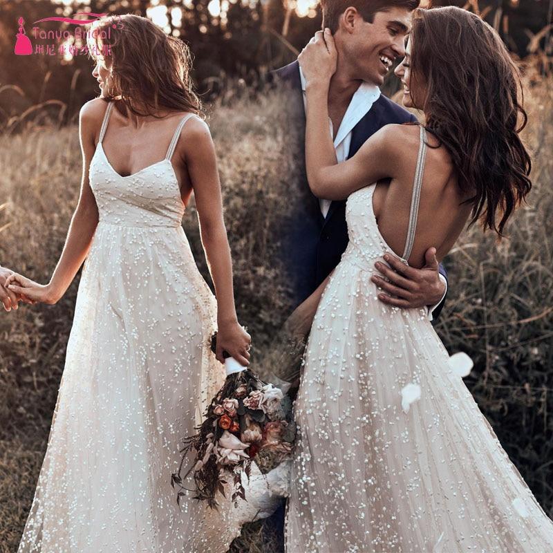 Classic Handmade wedding Dresses 2019 breathtaking Dot Tulle V neck ...
