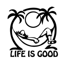 1Pcs Life is Good Universal Car Sticker For TOYOTA corolla VW Golf 4 5 mk2 mk3 Audi A4 B6 Q5 B8 BMW E46 E39 #B1346
