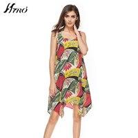 2017 Fashion Brand HIRO Boho Summer Casual Dresses Sexy Dress Women Floral Print Chiffon Vestidos De