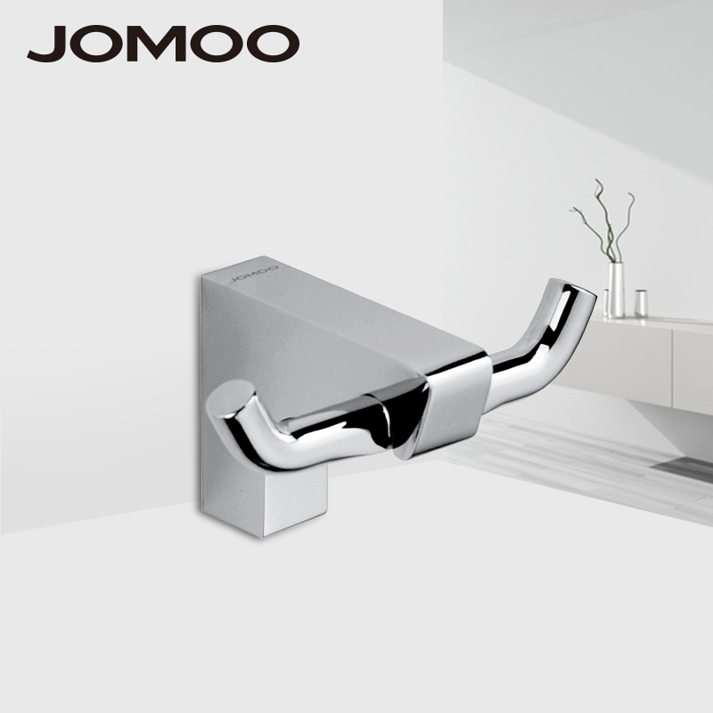 JOMOO Robe Hook Wall Hooks Nail Coat Hook Brass Chrome Kitchen Key Holder Wall Mounted Clothes Hat Hooks Bathroom Accessories wall mounted hook