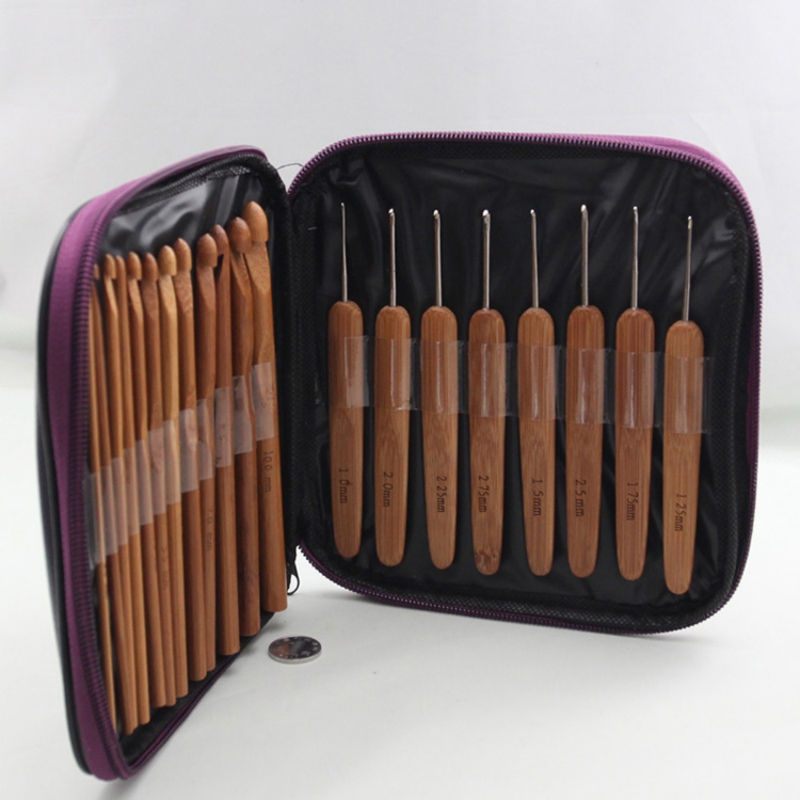 20pcs Bamboo Crochet Hooks Needles Knit Weave Craft Yarn Sewing Tools Knitting  Crochet Hook Set Sewing Tools Accessory20pcs Bamboo Crochet Hooks Needles Knit Weave Craft Yarn Sewing Tools Knitting  Crochet Hook Set Sewing Tools Accessory