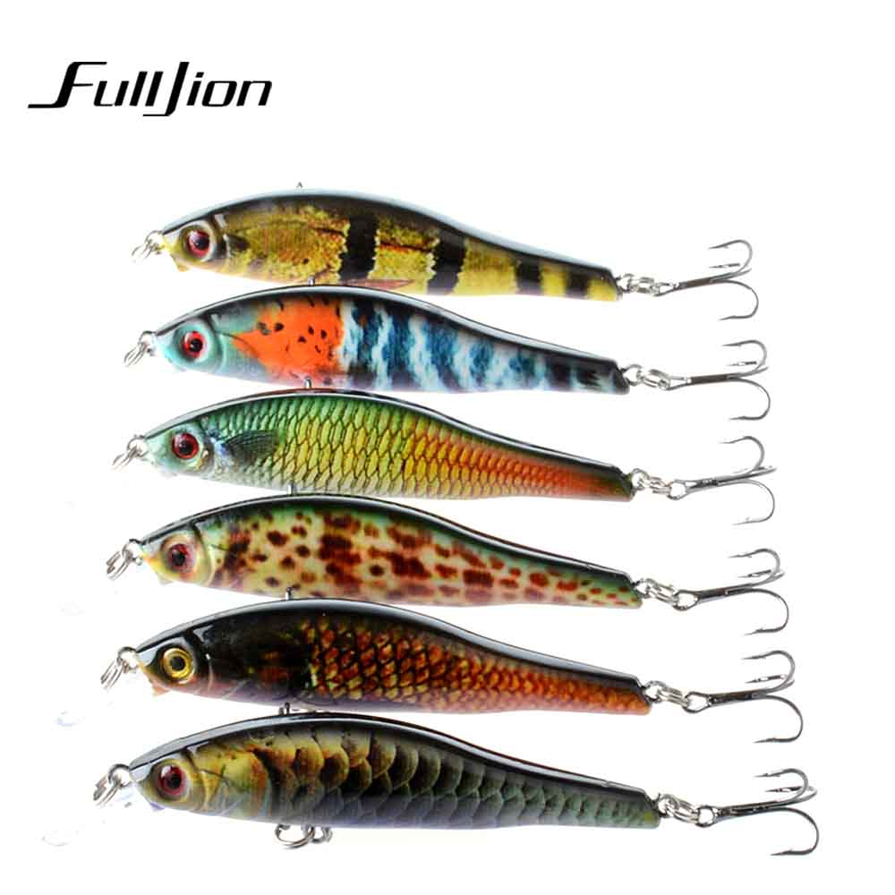 Fulljion 9.5cm 11.5g Minnow Fishing Lures ABS Plastic Painting Series Lifelike Wobblers Crankbaits Artificial Hard Baits Pesca купить