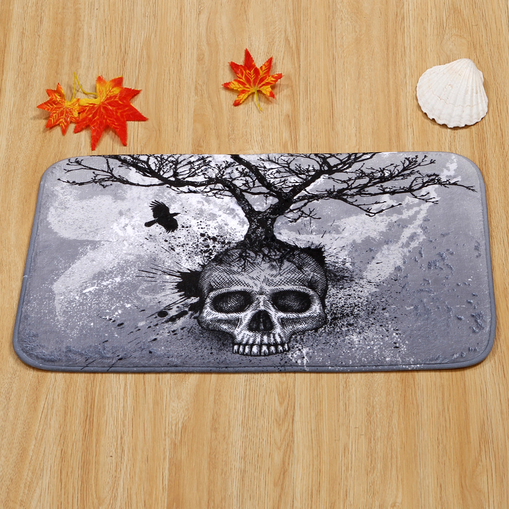 Hot Sale New Skull Tree Home Bedroom Front Door Anti-Skid Mats Carpet