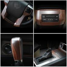 Luxury ABS Wood Chrome For Toyota Land Cruiser PRADO FJ150 2010-2017 Car Interior Cover Trim Frame Decoration car accessories цены онлайн