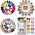 2016 Marca Suede Cuero de LA PU Bebé Mocasines zapatos Recién Nacidos Niñas Borlas Fringe Shoes Sneakers Primer Caminante Bebés Suaves del Pesebre