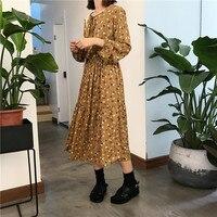 New Vintage Women Long dress Looselt Print Full Sleeve Video ~ Firm Offers Dresses 5850