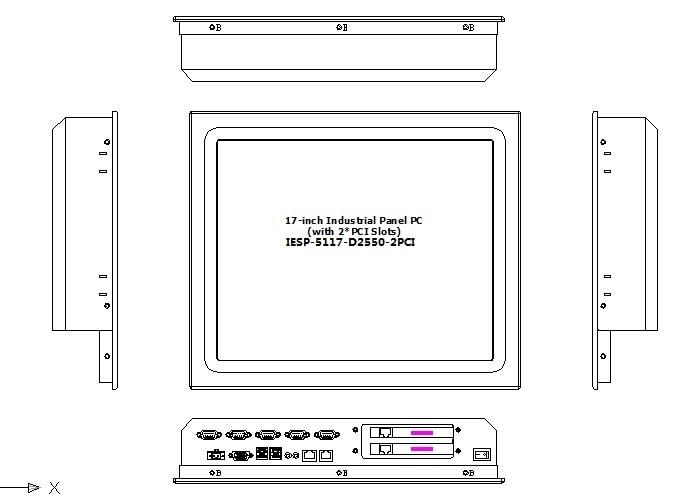 17 인치 산업용 터치 스크린 패널 PC, 2 * PCI 확장 - 산업용 컴퓨터 및 액세서리 - 사진 3