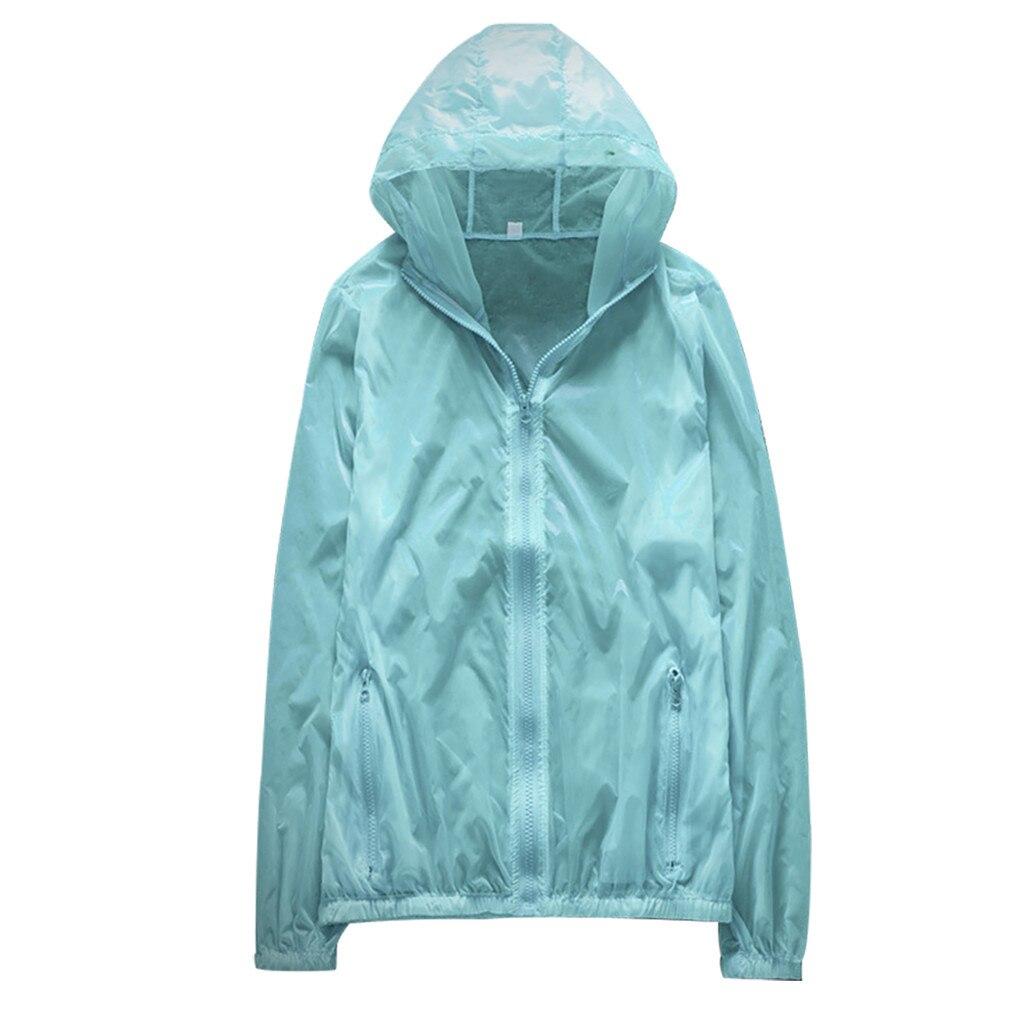 Sunscreen-Clothing Sun-Protection Short Breathable Summer Hooded-Jacket Beach-Cardigan