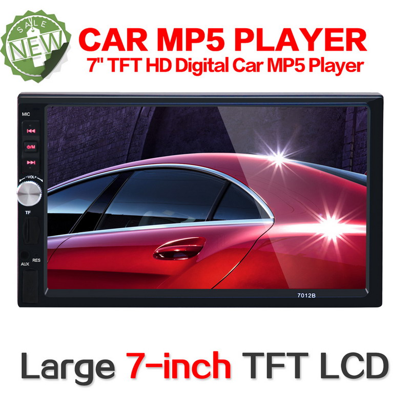 ФОТО 2016 New 7inch HD digital TFT Touch Screen Bluetooth Car Stereo Radio MP5 Player 2 DIN FM/MP5/USB/AUX With Remote Control