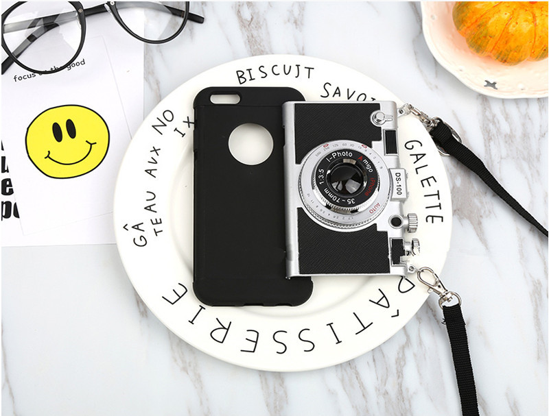 Korean 3D Camera For iPhone 7 Cases Mobile Phone Back Cover