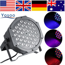 YOSOO 72W 36LED Remote Control RGB Stage Light DJ Party Disco Club Lighting DMX512 Disco Laser LED Stage Light EU/US Plug(China)