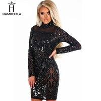 HAMBELELA Autumn Winter New Sequined Women Dress Fashion Long Sleeve 2018 Sexy Women Party Dresses Clubwear