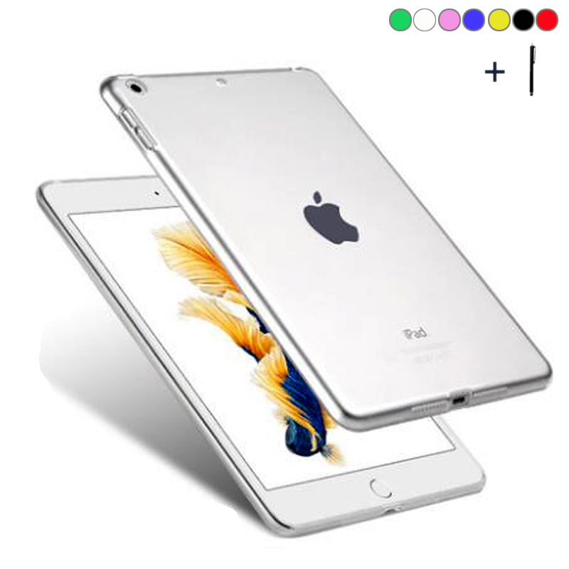 For iPad 9.7 inch 2017 Clear Soft TPU Case For iPad 9.7 inch 2017 360 Full Cover Coque For iPad 9.7 2017 Slim Gel Capa Fundas for ipad mini4 cover high quality soft tpu rubber back case for ipad mini 4 silicone back cover semi transparent case shell skin