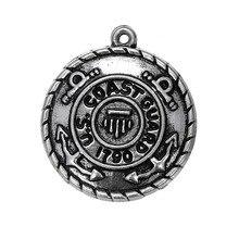 Skyrim 10pcs/lot US Coast Guard 1790 Badge Charm Cool Zinc Alloy Pendant Fit DIY Necklaces/Bracelets Jewelry Making Accessories