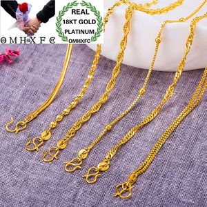 OMHXFC Wholesale European Fashion Woman Female Party Birthday Wedding Gift Vintage Twisted Beads 18KT Gold Bracelets BE192
