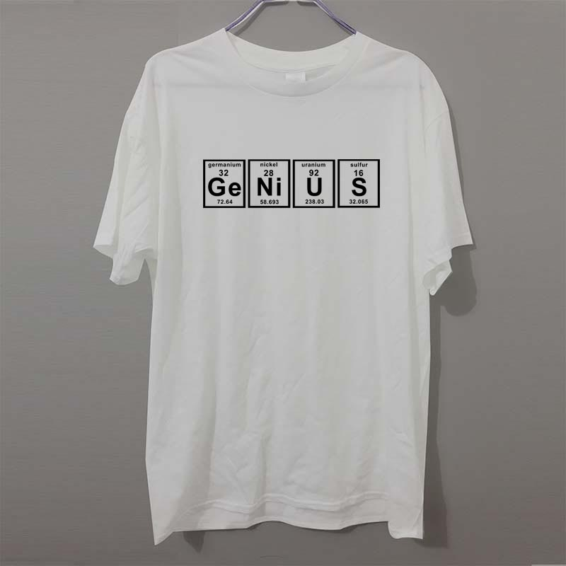 GENIUS PERIODISCHE TABELLE Wissenschaft Chemie Genial Humor lustige T-shirt Erwachsenen GEDRUCKT HERREN T SHIRT Großes geschenk T-shirt T Unisex