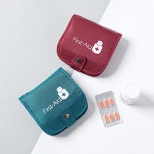 цена на Portable Emergency Medicine Storage Box Transparent Drug Box Travel Medicine Splitter Pill Organizer Drug Partition Container