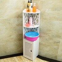 Bathroom corner cabinet Waterproof cabinet shelf paper towel storage rack toilet rack shower gel bathroom cabinet bath lo88311