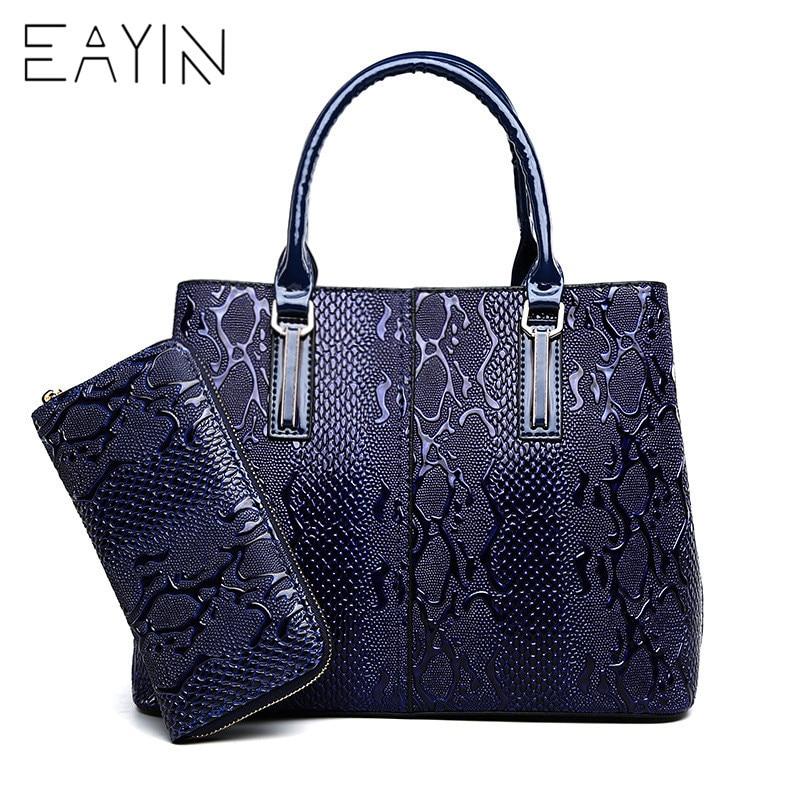 EAYIN Women Bags Set Brand Leather Ladies Handbag Messenger Bag Women's Top-Handle Bags And Purses Female Shoulder Bags bolsa цена