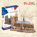 MC054h 3D Puzzle Toy, Cubicfun Architecture Cardboard Model Notre Dame De Parisw World Famous Building, Assembly Puzzle 3D Toys