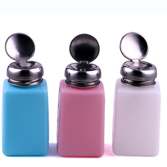 Random Color EFD FLUID DISPENSER 100ML/200ML/250ML SOLVENT Plastic Alcohol Bottle For Soldering Cleaning
