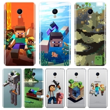 TPU Minecraft Game Back Cover For Meizu M6 M5 M3 M2 Note Sof