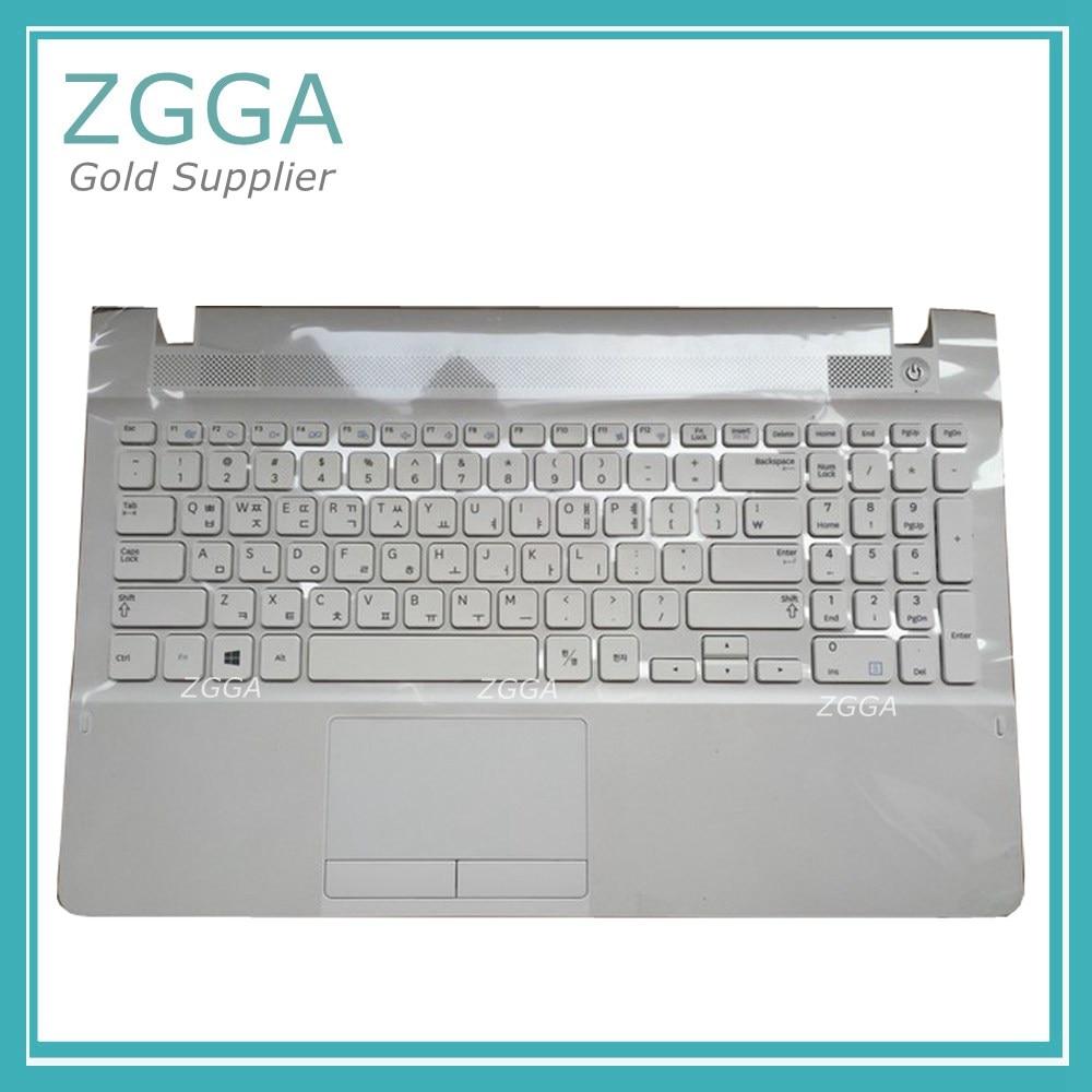 US New Laptop Keyboard Palmrest for Samsung 270E5V 270E5E 275E5E with touchpad Genuine Cover White BA75-04640C Enter Key
