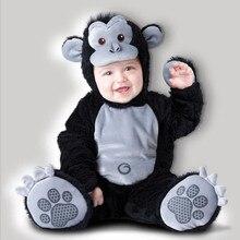 King kong Bébé Infantile Barboteuse Enfants Onesie Costume Animal Costume Halloween Gorille Co-splay Enfant automne hiver Vêtements