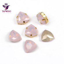 YANRUO 4706 Trilliant All Sizes Rose Water Opal Strass Crystal Sewing Stones For Crafts Diamond Tri Bright