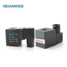 купить NBSANMINSE 20pcs/lot 0543 / 0545 Pneumatic Air Solenoid Valve Coil Led DC12V DC24V AC110V AC220V For VX2120 PU225 дешево
