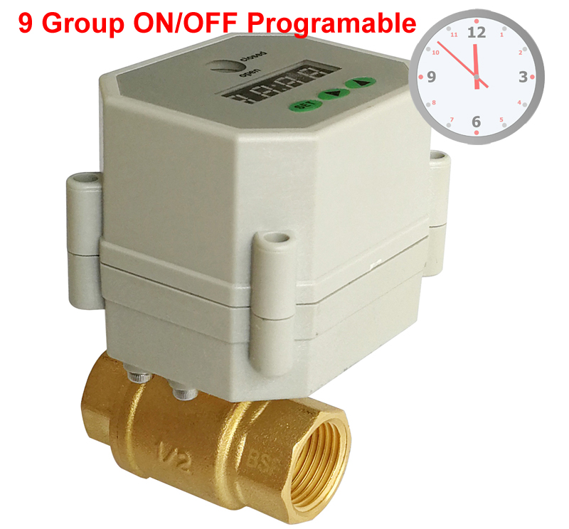 1/2'' Clock Timing control brass valve,110V-240VAC Timer Controlled Valve with 9 group programing yuxi bumper triggers buttons replacement plastic