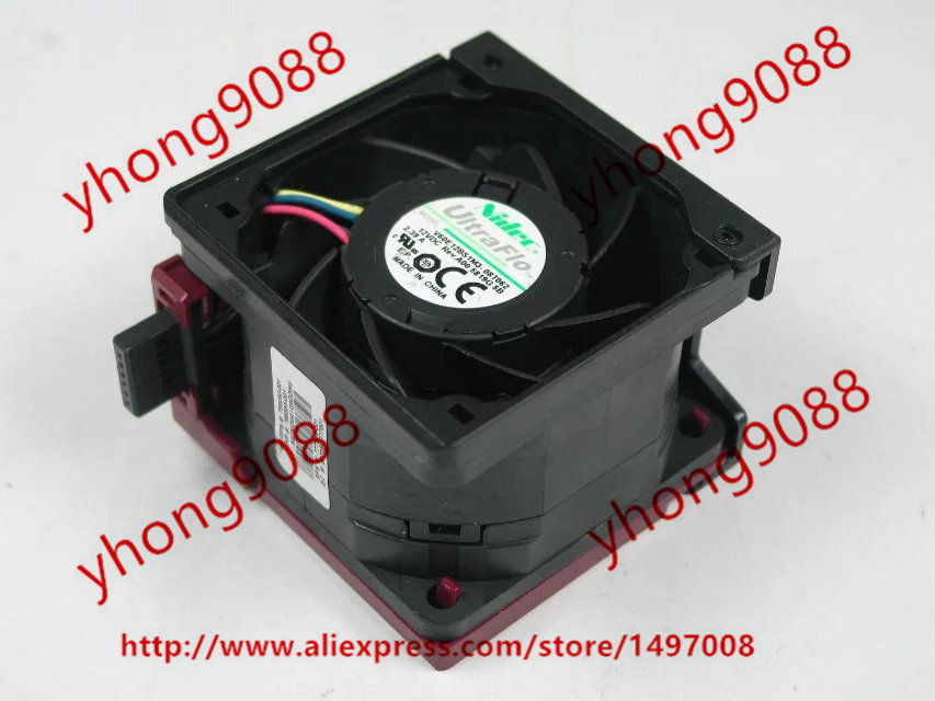 Nidec V60E12BS1M3-08T062 DC 12V 2.39A 4-wire 6-pin connector 60x60x38mm Server Square Cooling Fan nidec u40r05ms1a7 dc 5v 0 08a 4 wire 4 pin connector 40x40x15mm server square fan