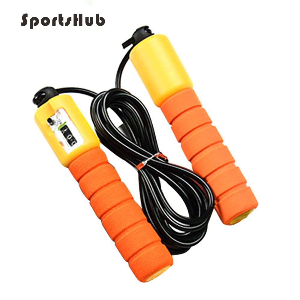 SPORTSHUB Jump Ropes With Counter Sports Fitness Adjustable Fast Speed Counting Jump Skip Rope Skipping Wire NR0132