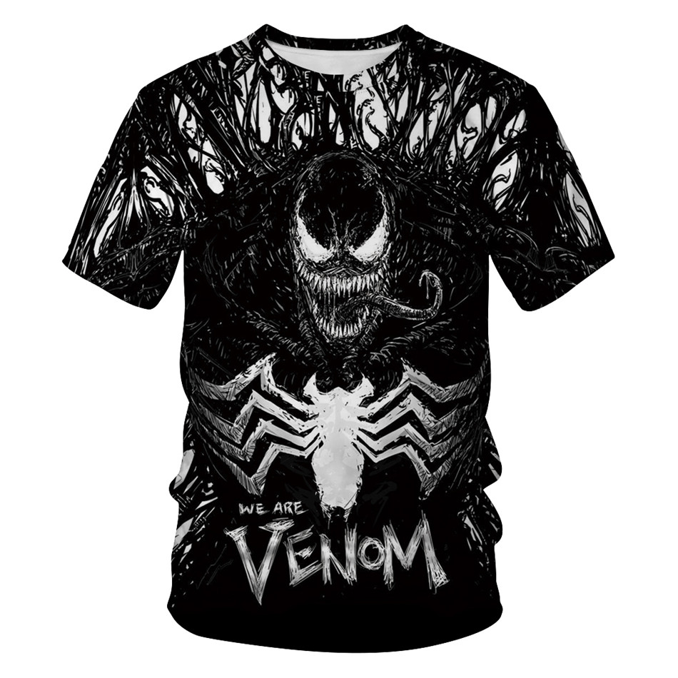 Fire Ve-Nom Kids T-Shirts Long Sleeve Tees Fashion Tops for Boys//Girls