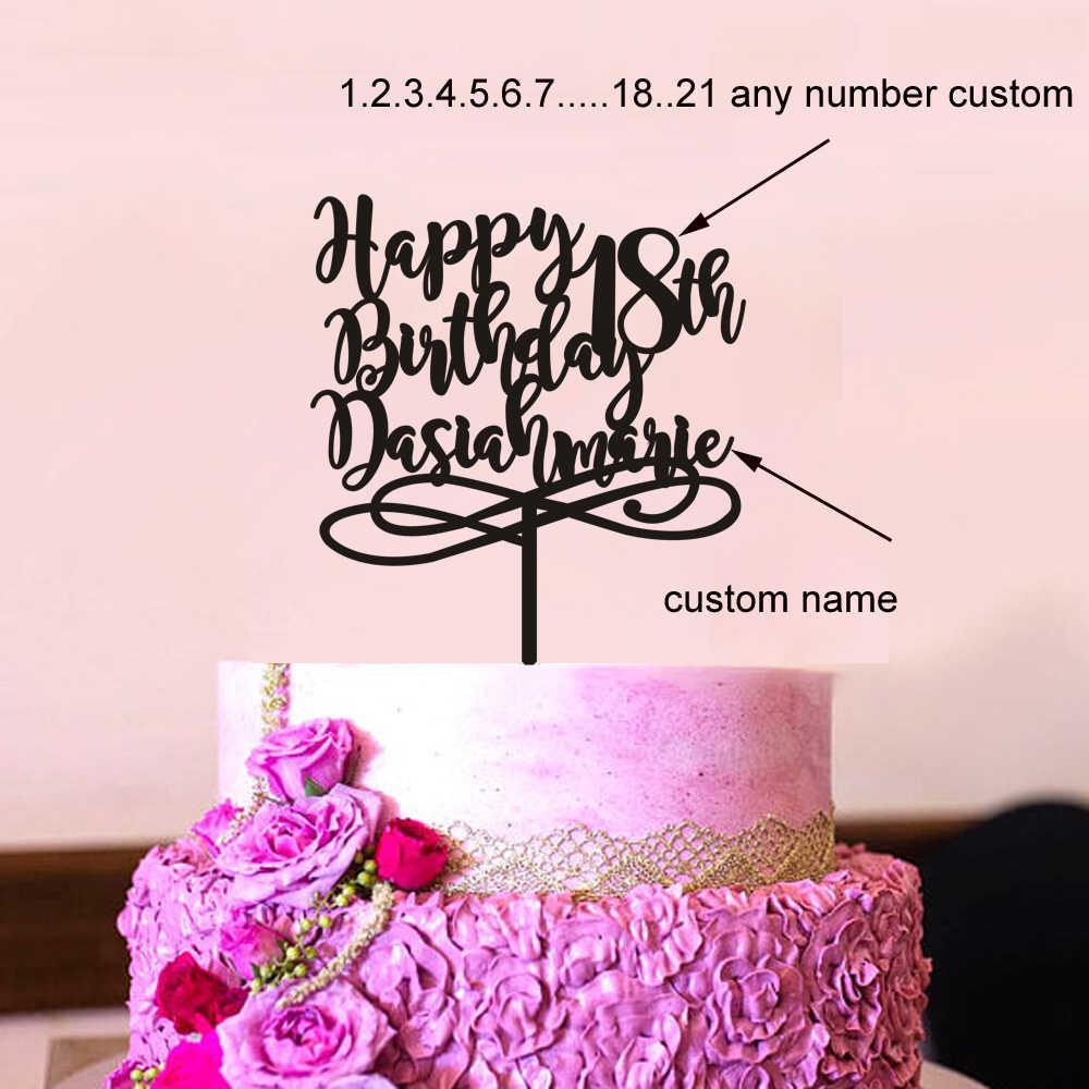 Terrific Personalized Birthday Cake Topper Birthday Gift Birthday Cake Birthday Cards Printable Opercafe Filternl