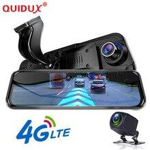QUIDUX 4G специальное зеркало Видеорегистраторы для автомобилей Камера 10 «сенсорный Android специальное зеркало gps 1080 P ADAS два объектива Wi-Fi регистратор регистраторы