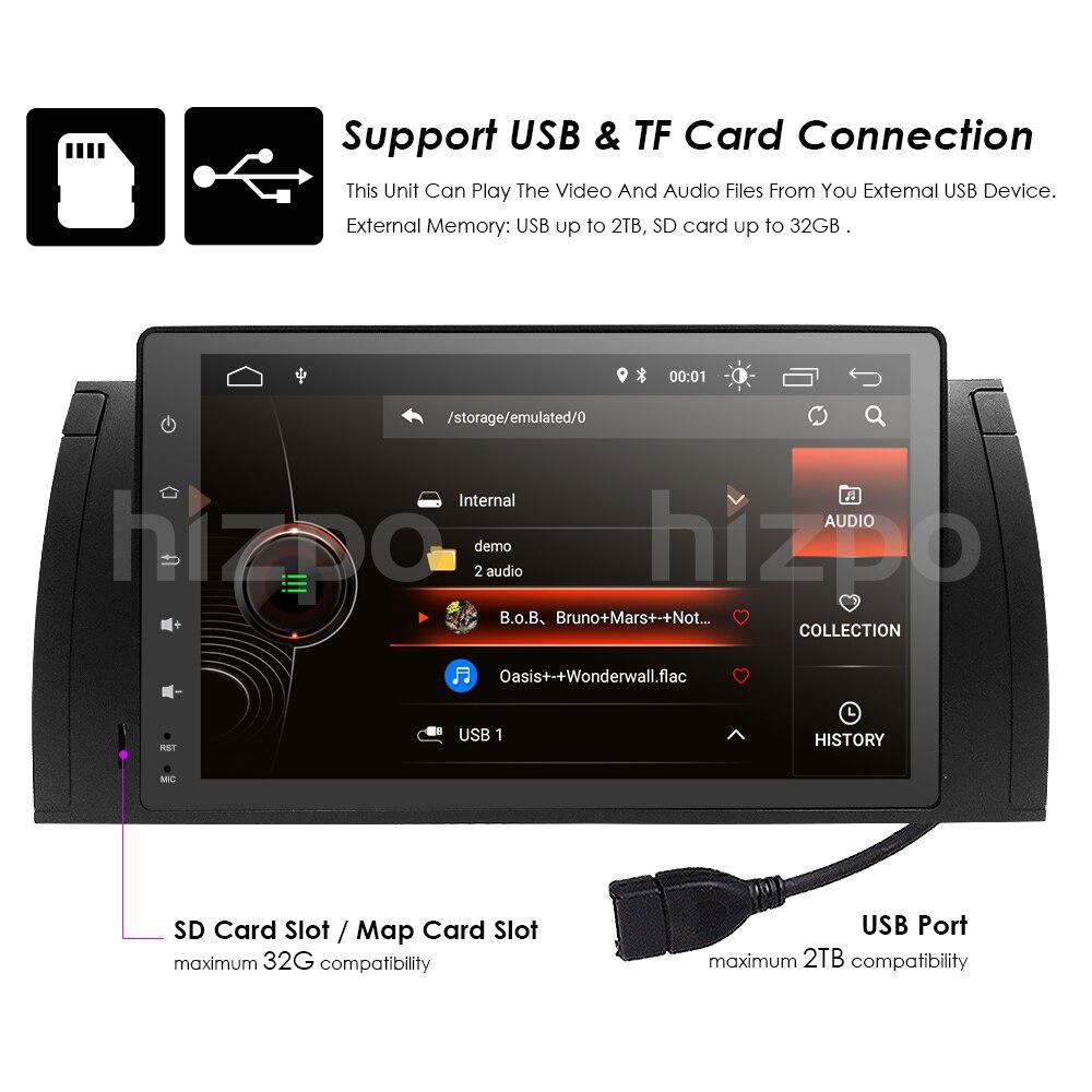 Voiture 2 din radio 4G android 8.1 GPS Navi pour BMW E39 M5 E38 E53 X5 autoaudio navigation unité de tête multimédia vidéo stéréo 2 Gb Ram - 4