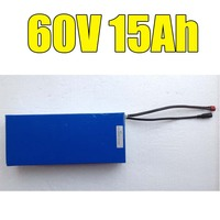 Free Shipping Electric Bicycle Battery 60V 15AH 1000w Motor With 67 2V 2A Charger 15A BMS