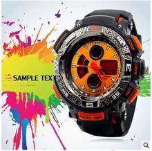 2016 Gran dial correa de Los Hombres a prueba de agua Unisex de los deportes reloj de buceo de calidad atmosférica Señora relojes mujer Vestido de las mujeres reloj de pulsera
