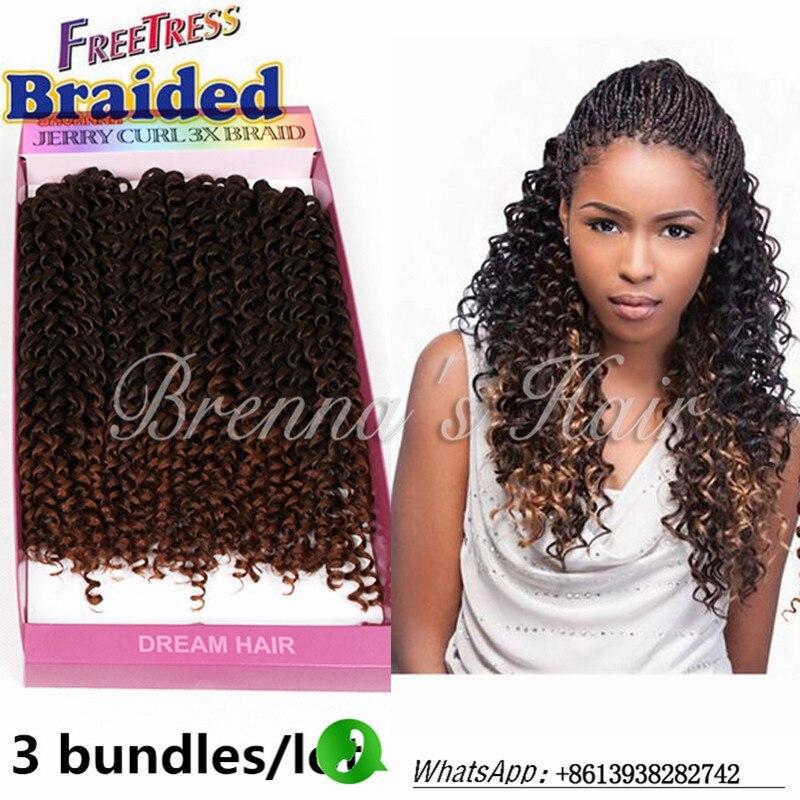 10inch 1b Freetress Braided Crochet Braids Synthetic Hair Kinky